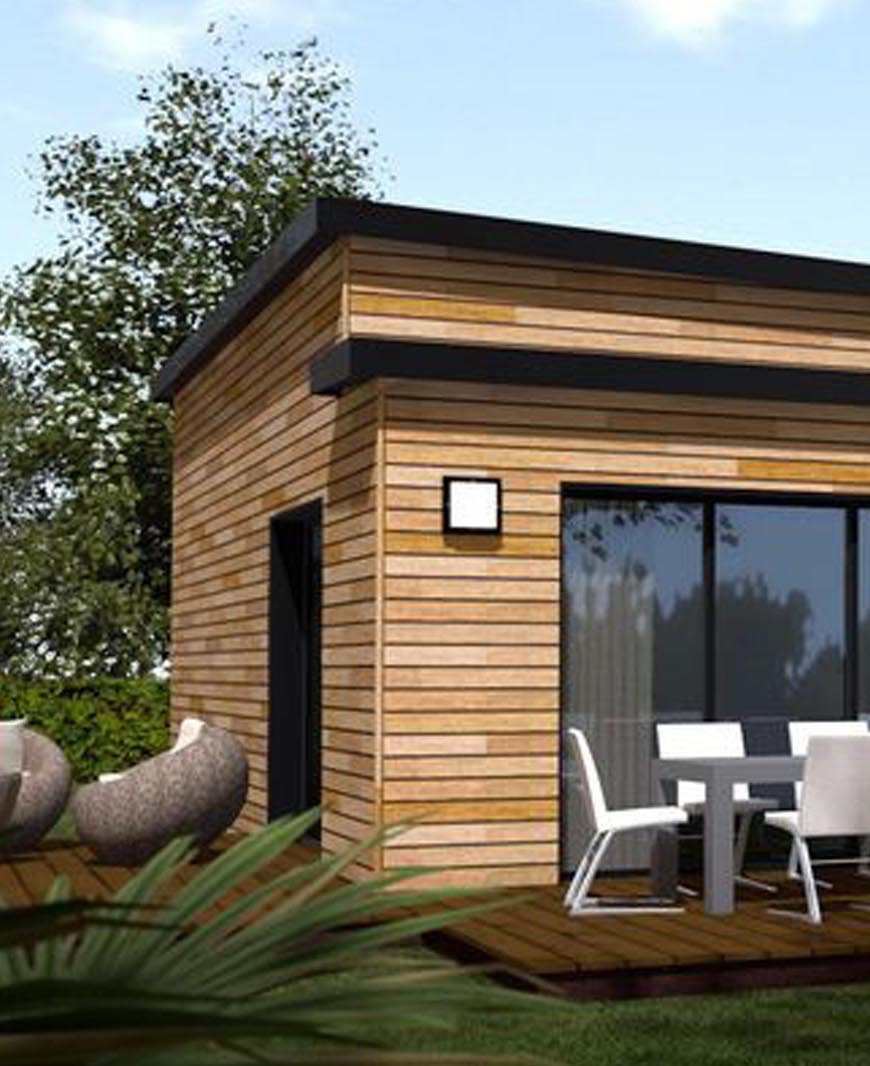 Maison En Bois Moderne. With Maison En Bois Moderne. Latest With ...