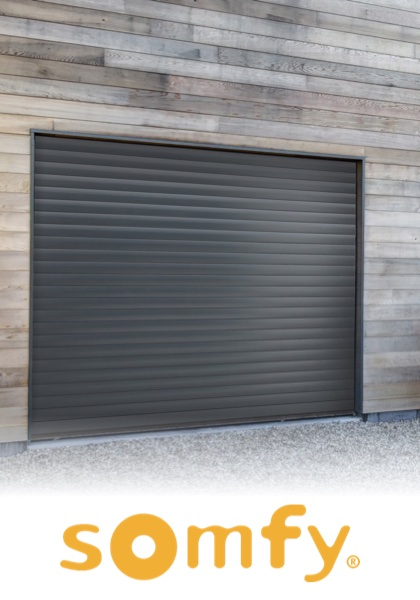 Porte de garage enroulable sur mesure for Reglage porte de garage enroulable somfy