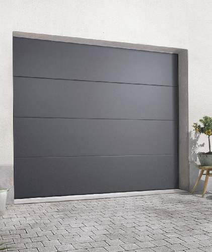 Porte de garage sectionnelle grise anthracite RAL 7016
