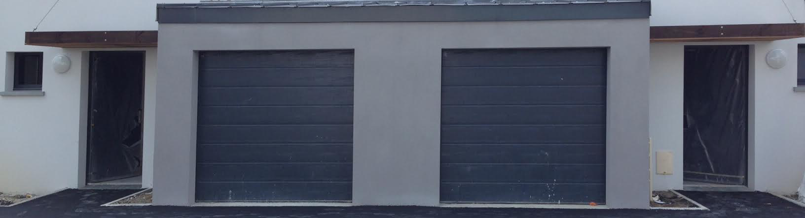 Porte de garage sectionnelle grise anthracite andernos for Porte de service gris anthracite